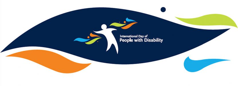 logo della Giornata Nazionale delle Persone con Disabilità composto da una figura umana stilizzata con accanto una scritta